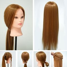 """Hot 30% Real Human Hair 26"""" Cosmetology Training Head Mannequin"""