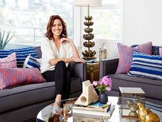 Tour the Stylish, Eclectic Home of Bones Star Michaela Conlin: Combining midcentury-inspired pieces and stunning vintage finds, the actress crafts a chic space—come see inside! via @mydomaine