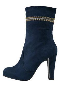 Platform-nilkkurit - sininen Avon, Platform, Booty, Ankle, Heels, Fashion, Heel, Moda, Wedge