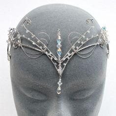 Collection featuring Eye of the Sea Jewelry, TIARA Hair Accessories, and 93 other items Offbeat Bride, Elvish, Circlet, Fantasy Jewelry, Tiaras And Crowns, Hair Jewelry, Jewellery, Headdress, Ideias Fashion