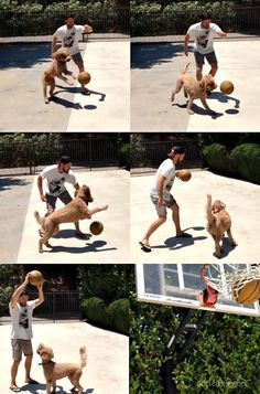 Jensen Ackles and his doggy Oscar. :)