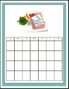 Meal Planning for a Whole Month: Make your month a little easier by planning all your meals at one time. Free printable and tutorial for how to pull it off.