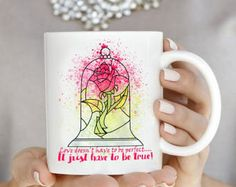You'll love this Beauty and the Beast themed rose coffee mug from Etsy.