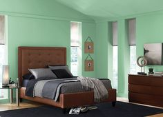 This is the project I created on Behr.com. I used these colors: GARDEN SWING(M410-4),