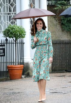 In the video, which was recorded in January, Kate (pictured here on her last royal engagem...