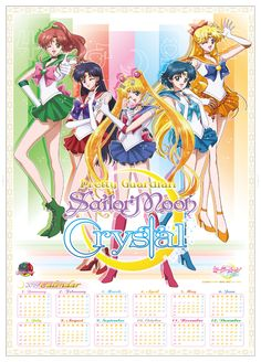 2015 Sailor Moon Crystal calendar!