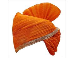 Marwadi Kesriya Royal Marriage Safa Turban Exclusively Designed for Dashing Grooms, Rajasthani Colle