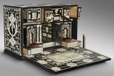 Writing Cabinet, Workshop of Iacobus Fiamengo, ebony with ivory inlay, Italy, c. 1600