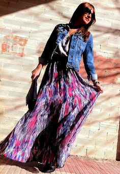 Colorful Long Maxi, really love this style ♡
