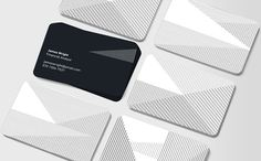 10 creative business card designs.  Design byJonathan Howells for Moo  Simple black lines on a white background create a crossing pattern