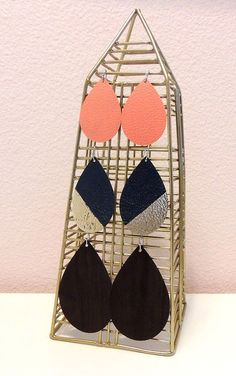 Create these Faux Leather Earrings with your Cricut!