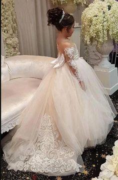 Custom Made Flower Girl Dress Fashion Flowergirl Dress KF01 – kelendress