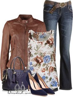 20 Cute Outfit Combinations With Floral Top i love this outfit too