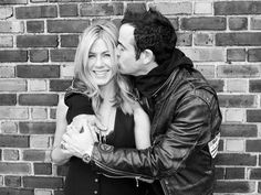 Happy engagement! Jennifer Aniston and Justin Theroux [Photo: Terry Richardson]