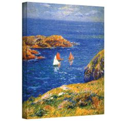 Art Wall Calm Seas Gallery Wrapped Canvas Art, 18 by 24-Inch, By Art Wall // $96.74  Features: - Artist: henri moret - Title: calm seas - Type: oil on canvas - Dimensions: 18x24 - Reproduction is completely made in the usa, printed on high quality canvas and professionally hand-stretched/gallery wrapped-  >>Get Inspired! - Visit http://artcaffeine.imobileappsys.com