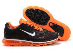 timeless design b090a 1129e 2014 New Nike Air Max 2011 Netty 09 Women Running Shoes Black Oragne