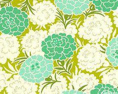 Up Parasol - Mum Toss - Wasabi Green. From eQuilter.com