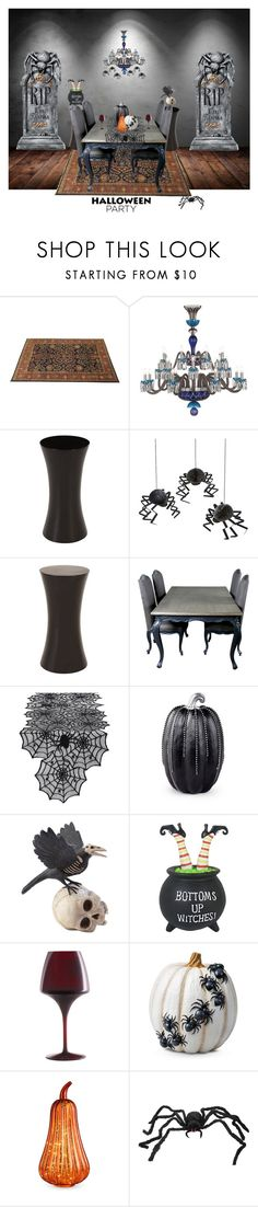 """""""Halloween Party Decor"""" by detroitfashionista ❤ liked on Polyvore featuring interior, interiors, interior design, home, home decor, interior decorating, WALL, Saint-Louis Crystal, Meri Meri and Design Imports"""