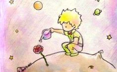 """il piccolo principe e la rosa. Memoria di amicizie. Anche se non son durate """" per sempre """", è stato bello lo stesso."""