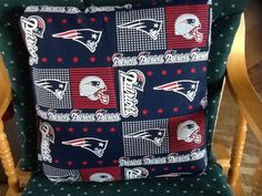 New England Patriots throw  pillow back solid by MawmaRosesCrafts, $20.00