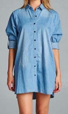Be comfortable in our oversized shirt. #specialajeans #oversizedshirt #indigodenimshirt