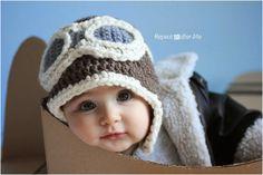 Crochet Aviator Hat Pattern FREE PATTERN