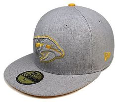 release date: 6384c 34f63 NHL New Era Nashville Predators 59Fifty Heather Gray Fitted Hat Cap Sz 7-3 8