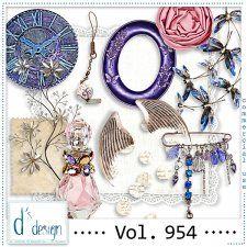Vol. 954 - Vintage Mix  by Doudou's Design  cudigitals.com cu commercial scrap scrapbook digital graphics#digitalscrapbooking #photoshop #digiscrap