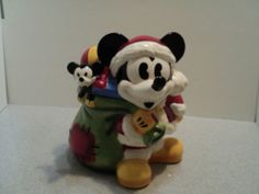 Santa Mickey Mouse Cookie Jar by JC Penney
