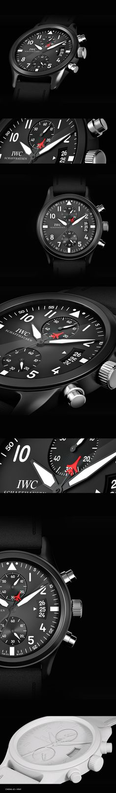 3D IWC Watch by Flavio Carvalho, via Behance