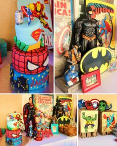 Vintage Superhero themed birthday party with SUPER AWESOME IDEAS via Kara's Party Ideas