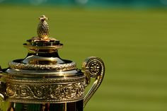 A detail of Gentlemen's Singles Trophy - Thomas Lovelock/AELTC
