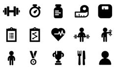 Fitness icons Free Vector Site Download Free Vector Art Graphics Gym icon Fitness icon Png icons