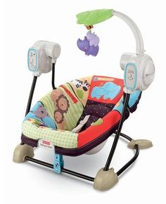 Fisher-Price Luv U Zoo SpaceSaver Swing & Seat:. Swing and seat all in one space saving product Adorable Luv U Zoo fashion is sure to entertain baby Offers vibration, music, sound effects, and removable toy bar Pad is machine washable Easy portability Baby Must Haves, Fisher Price, Best Baby Bouncer, Baby Shooting, Diaper Bag, Target Baby, Baby Equipment, Shower Bebe, Baby Shower