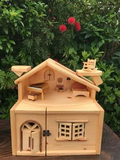 Fairy Houses, Play Houses, Doll Houses, Cardboard Rocket, Doll House Plans, Wooden Dollhouse, Woodworking Workshop, House Made, Wooden Toys