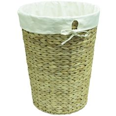 Shop 16-in W x 21-in H x 16-in D Water Hyacinth Hamper at Lowes.com