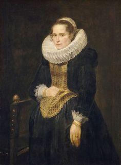 Sir Anthony van Dyck, Portrait of a Flemish Lady (Probably 1618)