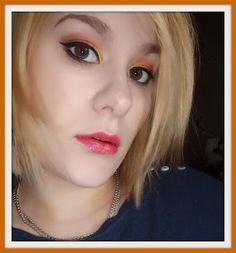 KarolínaB: Oranžovo žluté líčení