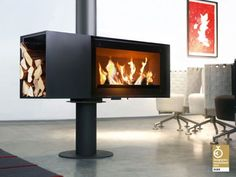Turn fireplace by Skantherm | Oblica