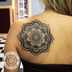 Mandala tattoo made by Paul Averette at The Bell Rose Tattoo & Piercing in Daphne, Alabama.
