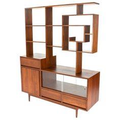 Image of Midcentury Modern Room Divider & Credenza