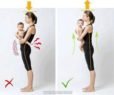 Whether it's a baby or a bag of groceries you must pay attention to your posture when carrying anything around! Women who are pregnant recently had a baby or who are breastfeeding have an increas. Posture Fix, Bad Posture, Posture Exercises, Pilates, Clinique Chiropratique, Alexander Technique, Spinal Decompression, Tight Hip Flexors, Psoas Muscle