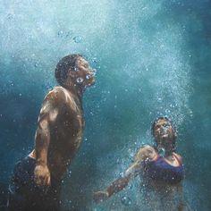 """Swirl,"" a painting by California artist Eric Zener"