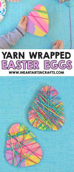 Yarn Wrapped Easter Egg Craft Fine Motor Craft For Kids