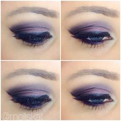 pink smokey eye makeup idea with how to tutorial