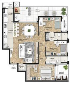 House Floor Design, Sims 4 House Design, Sims House, Small House Design, Bungalow House Plans, Dream House Plans, Modern House Plans, House Floor Plans, Home Building Design