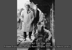 The illustrious camera crew of 'Room At The Top' (1959) ... Freddie Francis and Ronnie Taylor ...