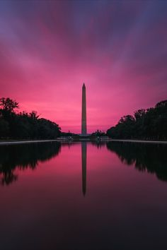 Sunrise from the lincoln memorial reflecting pool in Washington DC Jefferson Memorial, Lincoln Memorial, Peace Art, Us Capitol, Rock Creek, National Mall, Great Photos, Travel Guides, Washington Dc