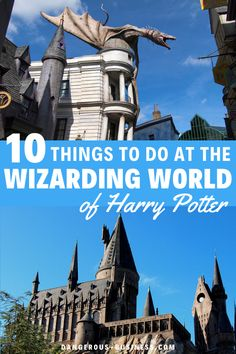 Top 10 tips you need to know for visiting the Wizarding World of Harry Potter at Universal Orlando. Experience the wonder, Hogwarts, Diagon Alley,  and the mysteries of magic with this fantastical guide to the Wizarding World of Harry Potter Orlando Universal Studios. All the best things to do and what you need to skip to get the best experience.  #HarryPotter #Universal #USA Universal Parks, Universal Studios, Travel With Kids, Family Travel, Florida Travel Guide, Bucket List Family, Diagon Alley, Family Road Trips, Beautiful Places To Visit