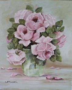 """Original Painting - """"Study of Old Rose Painting"""" - Postage is included Australia Wide"""